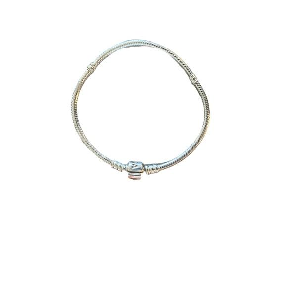 Pandora Snake Charm Bracelet Silver 7.5 inches